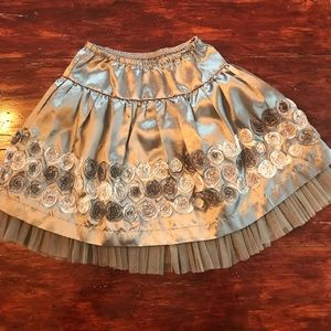 Jona Michelle silver skirt with flowers
